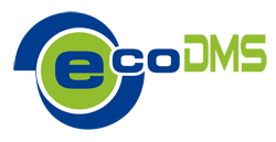 Logo (ecoDMS, blue:solution)